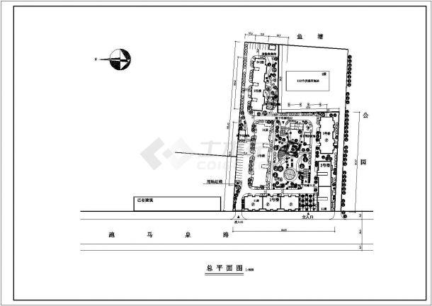 高层住宅小区规划设计图纸-图一