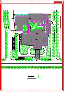 三层仿古图书馆建筑设计施工图纸-图二