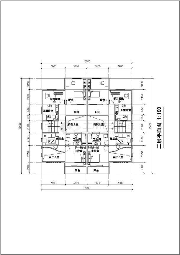 多层联排住宅楼建筑设计施工图-图一