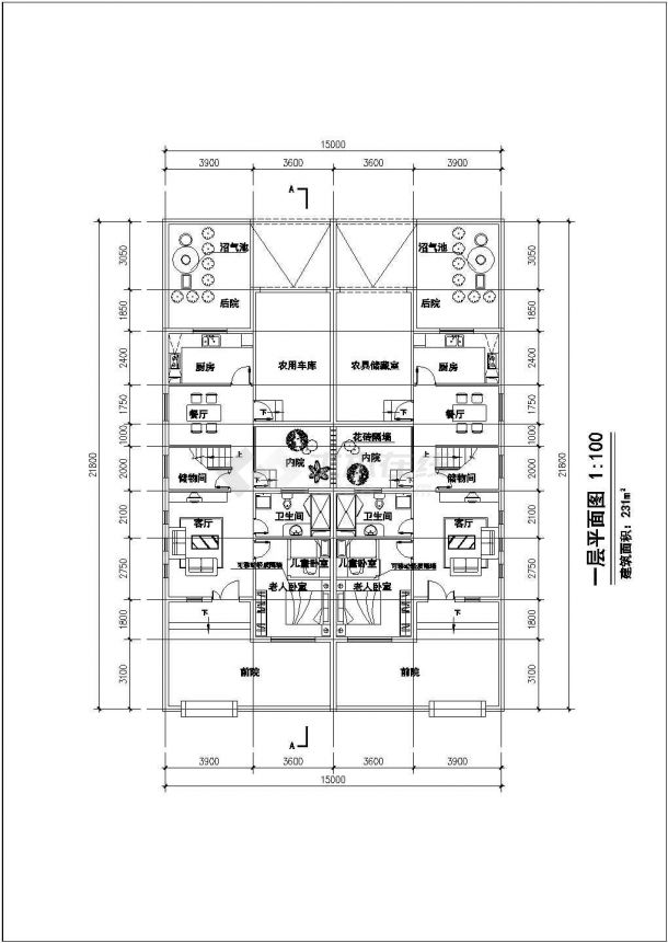 多层联排住宅楼建筑设计施工图-图二