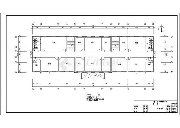 2246.37平米公司三层办公楼电气施工图纸-图一