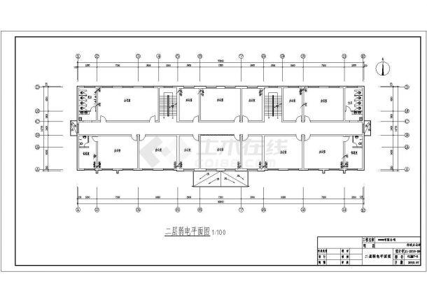 2246.37平米公司三层办公楼电气施工图纸-图二