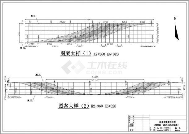 安徽淮南某道路绿化带绿化设计cad全套施工图纸-图一