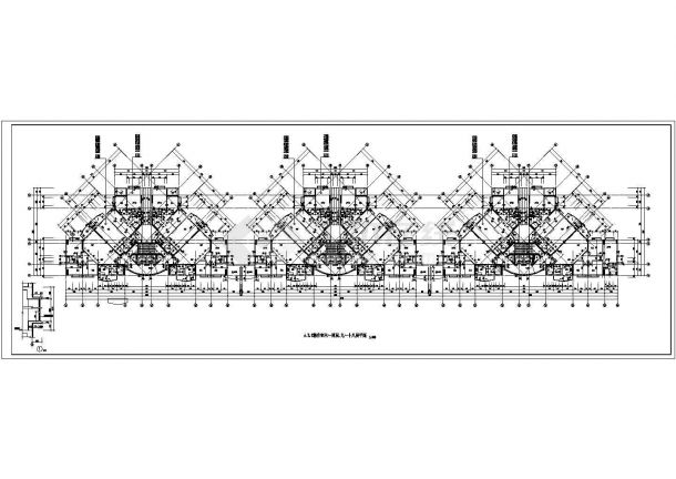 二十一层住宅楼建筑设计施工图-图一