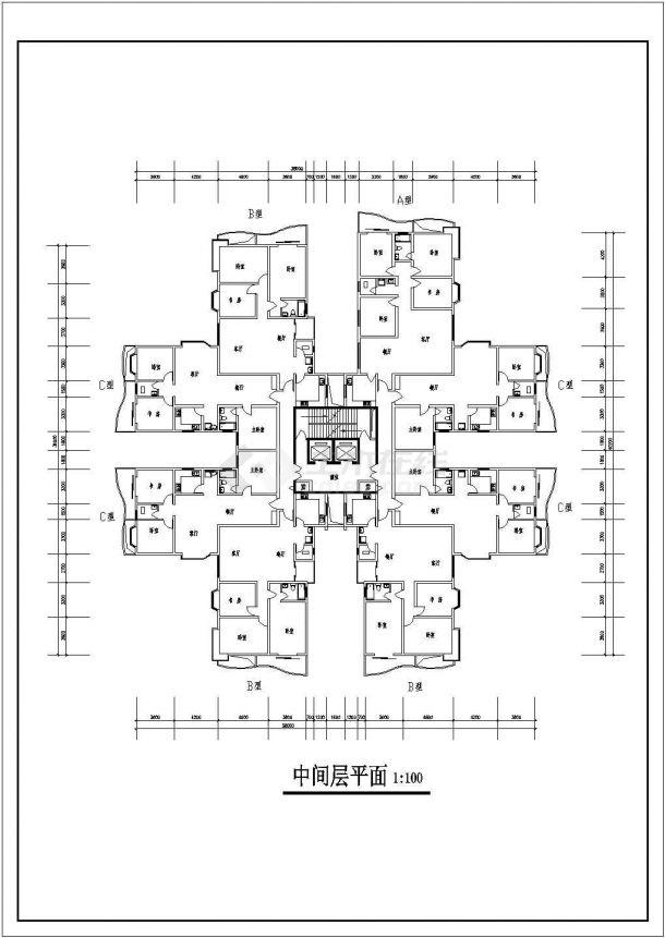 高层综合住宅建筑设计方案图-图二