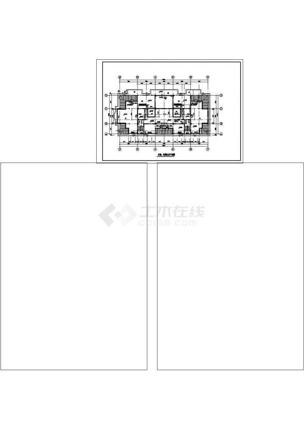 高层典雅住宅建筑设计施工图-图二