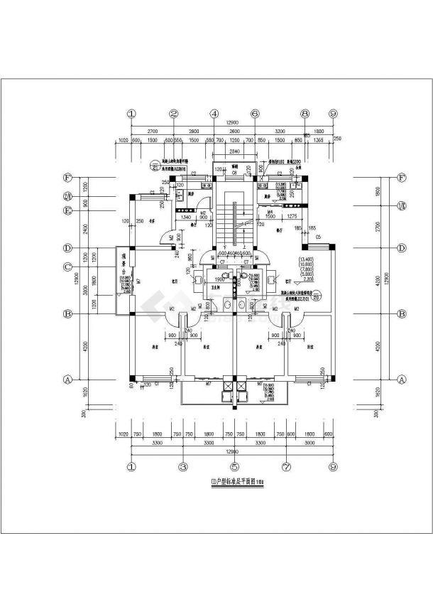 灌庄小区小区8#住宅建筑设计方案图-图二