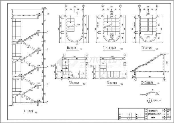 大型复式公寓建筑设计施工图-图一