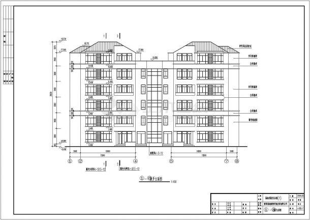 简约复式公寓全套建筑设计施工图-图一