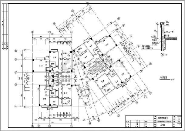 简约复式公寓全套建筑设计施工图-图二