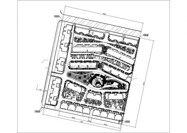 慈溪市泰盛家园小区总平面规划设计CAD图纸(占地2公顷)-图一