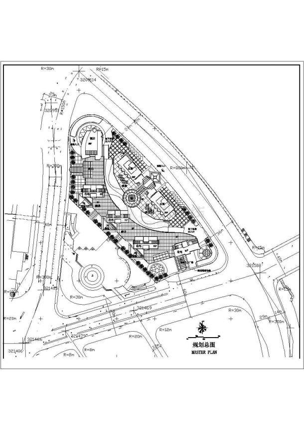 许昌市皇冠花园小区总平面规划设计CAD图纸(占地2.3公顷)-图一