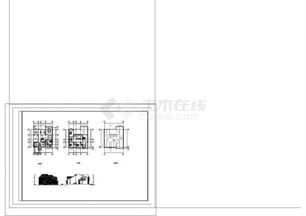 某地区两套三层及地下一层钢筋混凝土框架结构设计施工图(含设计说明)-图一