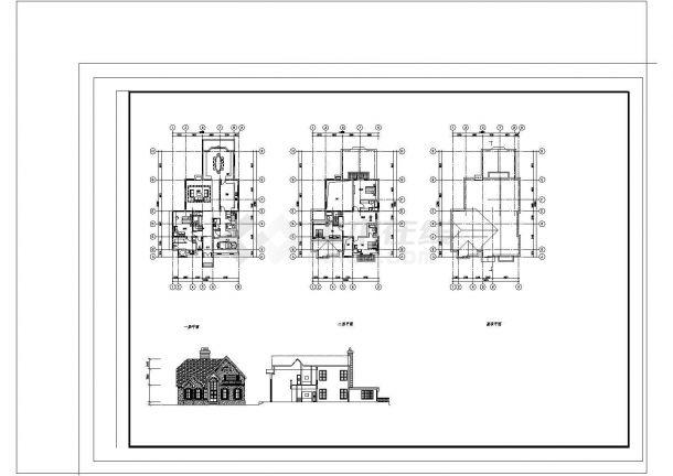 某地区两套三层及地下一层钢筋混凝土框架结构设计施工图(含设计说明)-图二