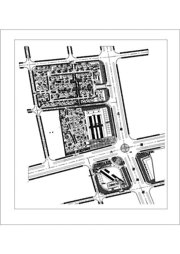 石家庄市某小区总平面规划设计CAD图纸(占地18万平米)-图一