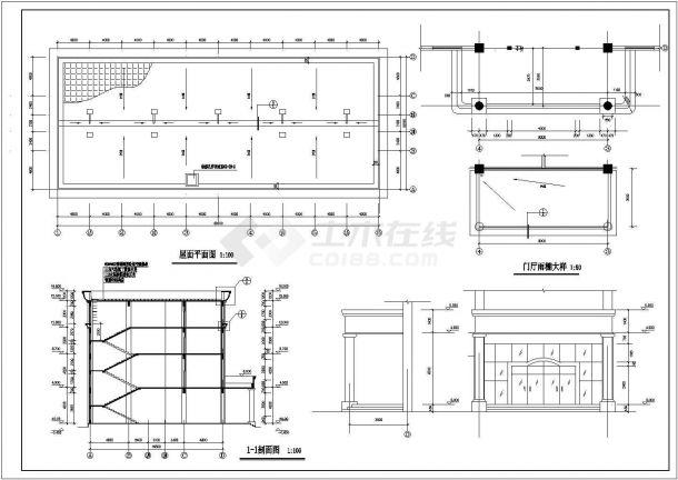 吴江市某酒店式多层公寓楼全套建筑施工设计cad图(含屋顶平面图)-图一