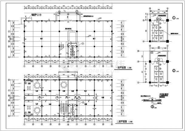 吴江市某酒店式多层公寓楼全套建筑施工设计cad图(含屋顶平面图)-图二