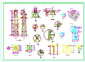 某厂房设备基础结构cad图纸-图二