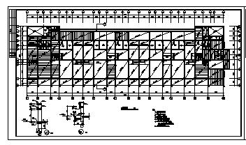 九层钢筋混凝土框架结构住宅楼结构cad施工图,共七张-图一