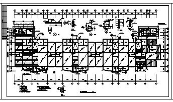 九层钢筋混凝土框架结构住宅楼结构cad施工图,共七张-图二