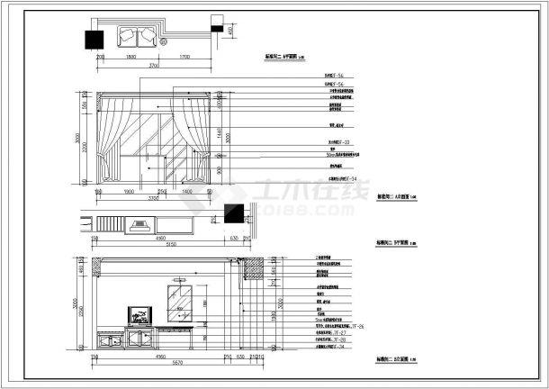 酒店详细室内装饰建筑设计施工图-图二