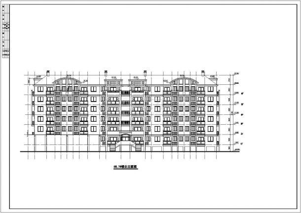 【苏州】某精致多层住宅楼全套建筑方案设计图(含东南西北立面图)-图二