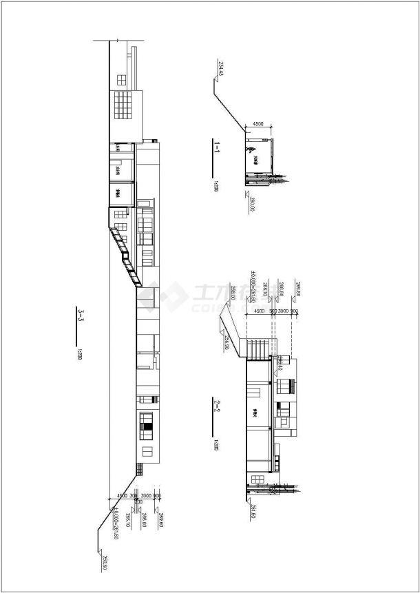 重庆市某新建楼盘1200平米2层框架结构售楼部建筑设计CAD图纸-图二