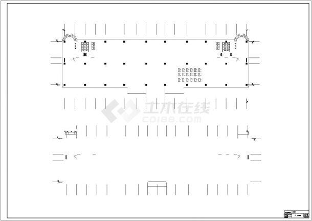 唐山市第八中学4820平米4层框架结构教学楼建筑结构设计CAD图纸-图一