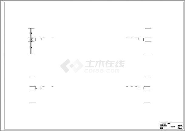 唐山市第八中学4820平米4层框架结构教学楼建筑结构设计CAD图纸-图二