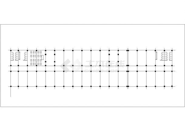 合肥理工大学6270平米5层框架结构教学楼建筑结构设计CAD图纸-图一