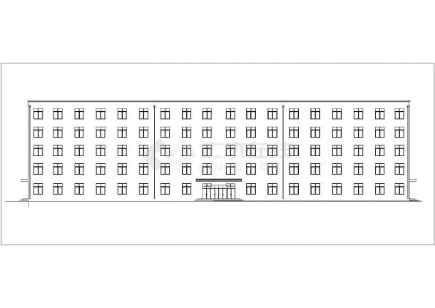 合肥理工大学6270平米5层框架结构教学楼建筑结构设计CAD图纸-图二