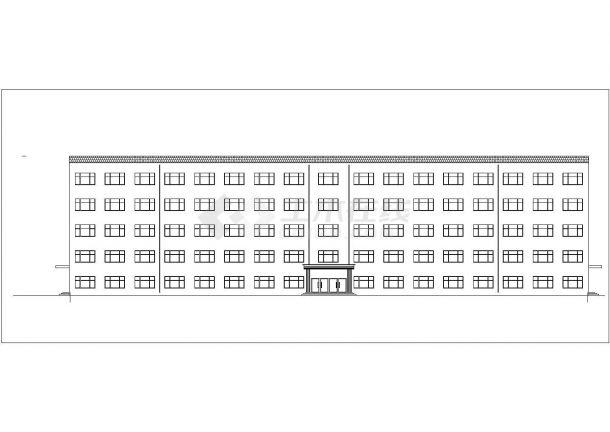 北京怀柔区某高校8070平5层钢混框架结构教学楼建筑结构设计CAD图纸-图一