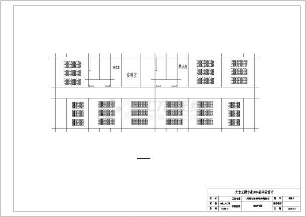 石家庄市某管理技能培训学院5层框架结构教学楼建筑结构设计CAD图纸-图一
