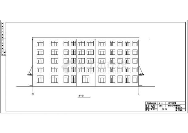 郑州上街区某实验中学4420平米5层框架结构教学楼建筑结构设计CAD图纸-图一