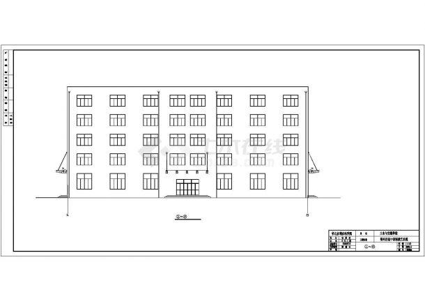 郑州上街区某实验中学4420平米5层框架结构教学楼建筑结构设计CAD图纸-图二