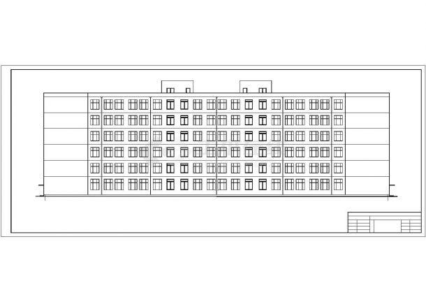 广州三水湾小区中学6层凹字形框架结构教学楼建筑结构设计CAD图纸-图一
