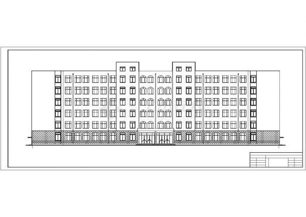 广州三水湾小区中学6层凹字形框架结构教学楼建筑结构设计CAD图纸-图二