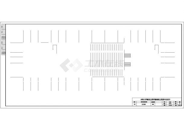 开封市某技工学校6740平米4层框架结构教学楼建筑结构设计CAD图纸-图二