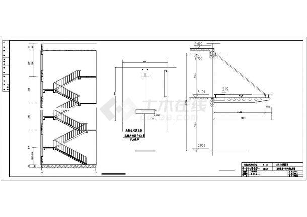 北京工业大学4420平米5层框架结构教学楼全套建筑结构设计CAD图纸-图一