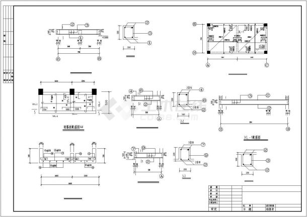 昆明市新仓中学3960平米3层框架结构教学楼建筑结构设计CAD图纸-图二