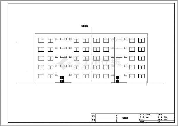 宣城市某职业技术学院2250平5层框架结构教学楼建筑结构设计CAD图纸-图一