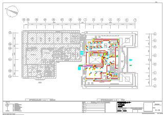 某大型医院电气设计cad施工图纸-图一