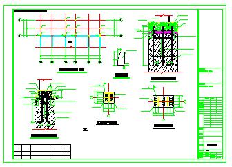 旧楼改造加室外钢结构电梯结构设计施工图纸-图一