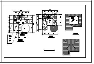 某地区三层别墅cad设计建筑图纸-图一