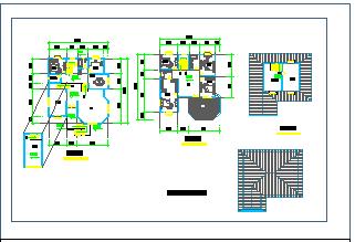 某地区三层别墅cad设计建筑图纸-图二