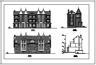 某地区豪华别墅建筑cad设计图-图一