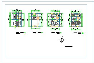 某地区豪华别墅建筑cad设计图-图二