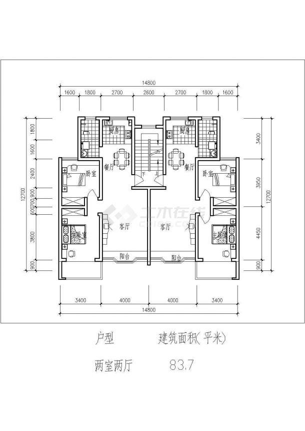 淮安市斑马小区总平面规划设计CAD图纸(占地2.4万平米含8张户型图)-图一