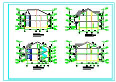 某地多层别墅建筑施工cad设计图纸-图二