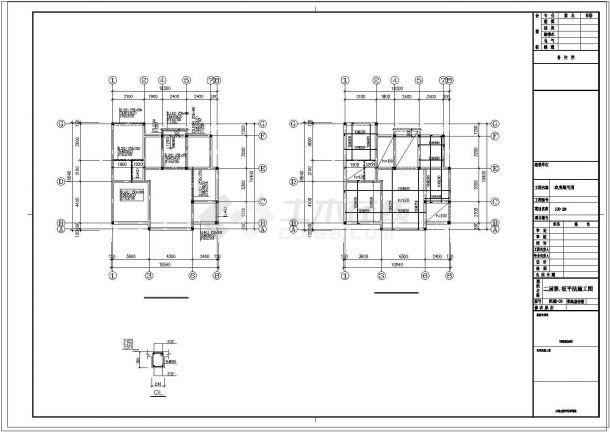 三层新农村单家独院式别墅建筑结构设计施工图-图二
